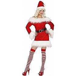 WIDMANN Disfraz de Mamá Noel de terciopelo y tejido polar S rojo