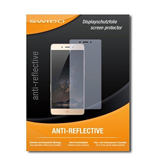 SWIDO Schutzfolie für Nubia Z11 [2 Stück] Anti-Reflex MATT Entspiegelnd, Hoher Härtegrad, Schutz vor Kratzer/Bildschirmschutz, Bildschirmschutzfolie, Panzerglas-Folie