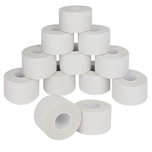 ALPIDEX 12 x cinta adhesiva deportiva 3,8 cm x 10 m, Color:blanco