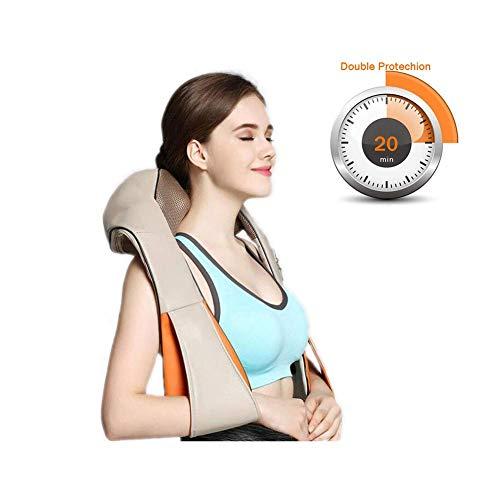yyqamy Massagegerät mit Wärmefunktion für Schulter Nacken Rücken Nackenmassagegerät Shiatsu Elektrisch Massager Einstellbaren Geschwindigkeiten Schmerzlinderung zu Hause Büro und Auto