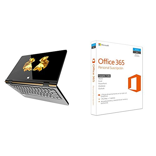 "Primux Ioxbook Tour 1102F - Ordenador portátil de 11.6"" FullHD (Intel Atom x5-Z8350, 2 GB de RAM, 32 GB eMMC, Windows 10 Home) + Microsoft Office 365 Personal"