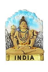 Adaa Meditating lord Shiva fridge magnet