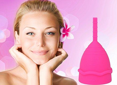 Horn Cycle Cup pink Größe L (groß) Menstruationstasse, Menstruationsbecher, Menstruationskappe - geruchlos - med. Silikon - nachhaltige Alternative zu Tampons/Binden