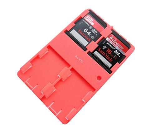 bandc 2rot SD/SDHC/SDXC, Aufbewahrung Halter Fall (Speicherkarte nicht enthalten)