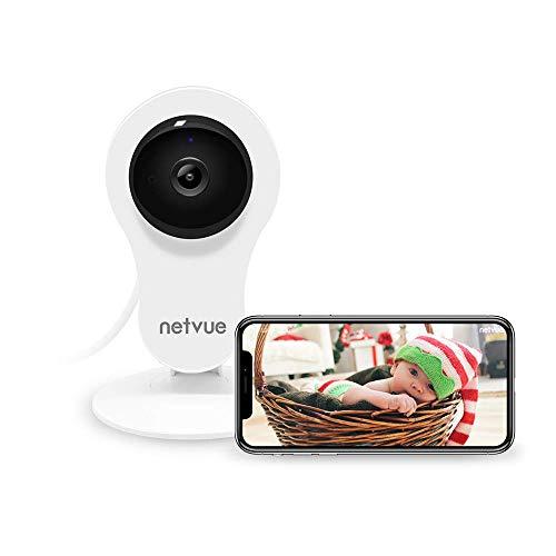 Netvue 1080P WLAN IP Kamera, Sicherheit Cam WiFi Babyphone mit 2-Wege-Talk IR Nachtsicht-Bewegungsmelder 14x24h Cloud-Speicher Innen Überwachungskamera für IOS Android