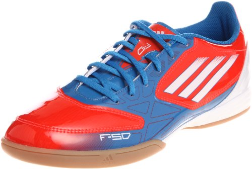adidas F10 IN, Chaussures de Football Entrainement Homme Rouge / Bleu