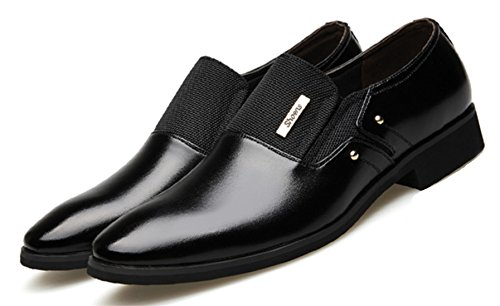 DADAWEN Homme Commercial Simple Style Leather Chaussure Noir B
