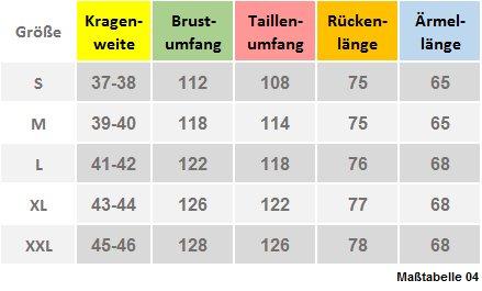 Stehkragenhemd grau DP-0018 verdeckte Knopfleiste Baumwolle-Mikro Bügelleicht M bis XXL Grau