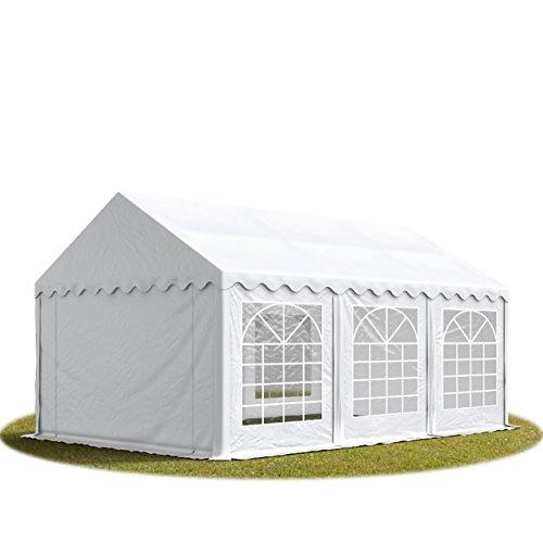 TOOLPORT Party-Zelt Festzelt 3x6 m feuersicher Garten-Pavillon -Zelt 500g/m² PVC Plane in weiß Wasserdicht