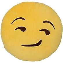Emoticones, Cojín de Emoji Sonrisa Suave y Cómodo Decoración Sofá Juguete de Peluche Mono Divertido 32cm