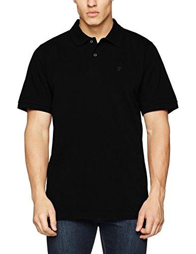 Schwarzes Pique Polo Shirt (JP 1880, Große Größen Herren Poloshirt Piquee, Schwarz (schwarz 10), 4XL)