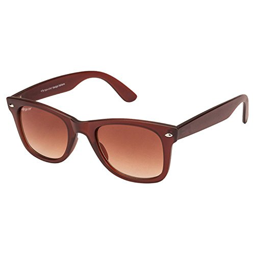 Elegante UV Protected Classic Glass Lenses Brown Wayfarer Sunglasses for Men and Women