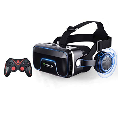 LYA 3D Vr Brille, VR Virtual Reality 3D-Brille Intelligenter Drahtloser Bluetooth-Fernbedienung Gamepad Intensives Erlebnis VR Brille 3D Virtual Reality