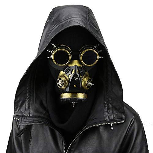Halloween PU Maske - Steampunk Domineering Pest Arzt Maske Harz Gothic Masquerade Maske Cosplay Requisiten