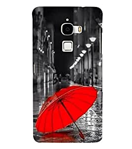 Red Umbrella 3D Hard Polycarbonate Designer Back Case Cover for LeTv Le Max :: Letv Le Max X900