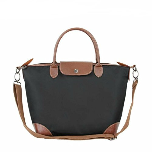 BEKILOLE , Damen Umhängetasche Gr. Medium, schwarz (Longchamp Große Tote Bag)