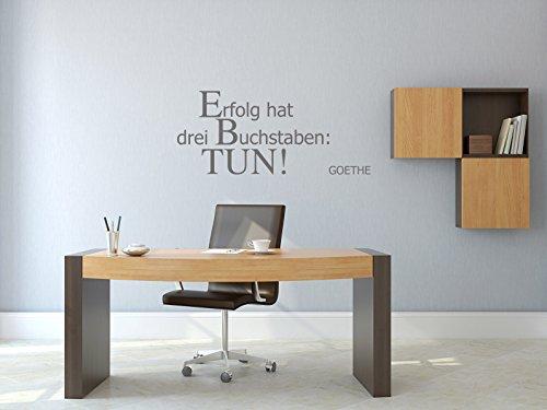 Erfolg hat drei Buchstaben: TUN! - Grau - ca. 105 x 45 cm