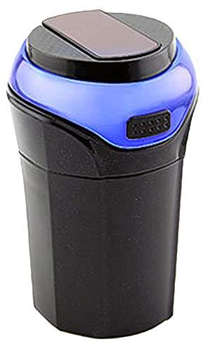 Zalock Auto Aschenbecher KFZ Aschenbecher mit Deckel und blauem LED-Licht Runder Multifunktional Auto Aschenbecher mit Zigarettenanzünder-Funktion
