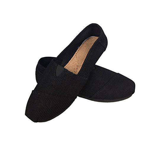 Meijunter Pantofole on Piana Degli Biancheria Pattini Comodi Neri All'aperto Amanti Sandali Slip Tela OwzEx1q