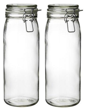 2-x-korken-2l-vidrio-transparente-con-tapa-hermetique-parfait-para-los-pasta-cornichons