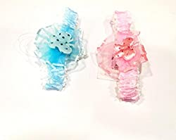 1stbabystore baby girl headband hairband cloth band hair accessories with design for newborn to 3 years, Pink,Blue(2 pieces)