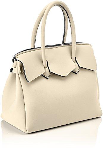 save my bag Miss, Borsa a Mano Donna, 34x29x18 cm (W x H x L) Beige (Mosaico)