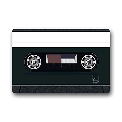 "PZLETVslzb Novelty Design Custom Cassette Tape Indoor/Outdoor Doormat (L23.6""X15.7""W)"