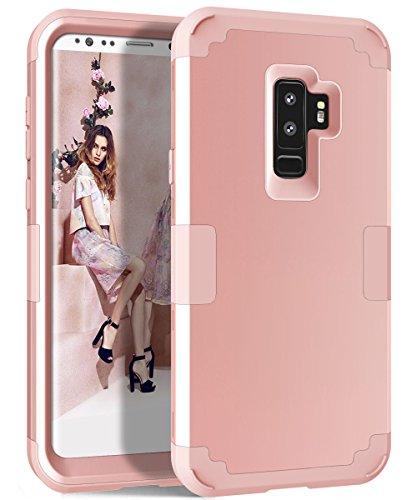 Galaxy S9Plus Fall, topbin [3in 1] Hybrid Dual Layer Hard PC + Weich Silikon Kratzfest Ganzkörper Schutz Fall für Samsung Galaxy S9Plus 15,7cm 2018Veröffentlicht, Rose Gold