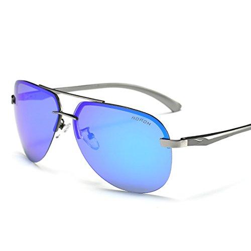 AORON HD Mode Polarisierte Sonnenbrille Herren Outdoor Sportarten Schutz Brille UV-Schutz Fahrbrille (blau)