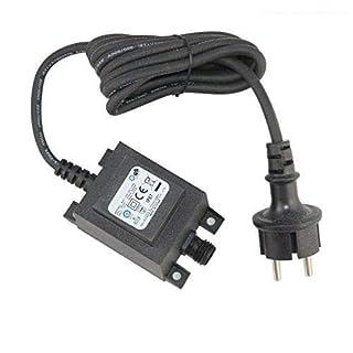 VBLED® 21W Netzteil/Trafo/Transformator 12V AC wassergeschützt IP67 für Außen- & Innenbereich, Input 230V Anschluss IP44 1,9 m Kabel für Gartenspot/Gartenstrahler