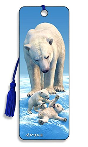 Polar Bears - 3D Bookmark - Pack of 6 Pieces: Bk79pbr
