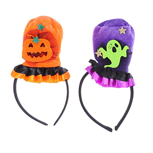 Freundlicher Kostüm Geist - Lurrose 2 stücke halloween stirnband kürbis haarbänder geist haarband hut kopfschmuck cosplay kostüm party requisiten für mädchen kinder (kürbis geist)