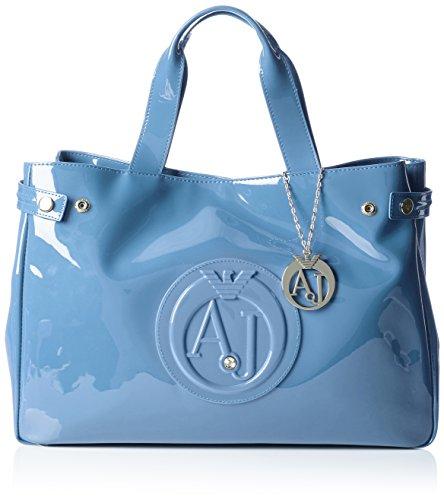 Armani Jeans  922591CC855, shoppers femme - Bleu - Blau (CAPTAIN'S BLUE 09134), 26x14x40 cm (B x H x T)