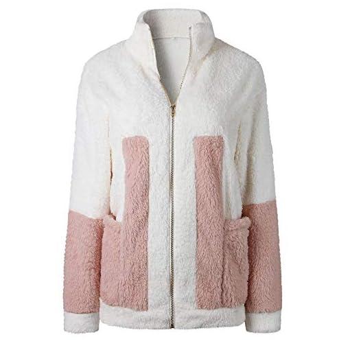 Felicove-Damen-MantelWarm-Mantel-Outwear-Langarm-Reiverschluss-Jacke-Pullover-Sweatshirt-Wintermantel-Warme-Strick-Mantel-Strickjacke-Plsch-Mntel-Jacken-Parka-Basic-Baumwolle-Pullover-Damen