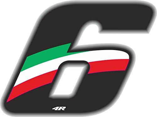 Numero Racing Flag 6 Medio