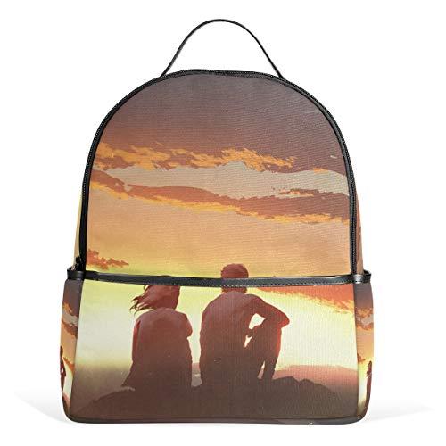 SCJ Rucksack für Mädchen, junges Paar, Schultertaschen Lässiger Schulrucksack für Rucksack (Personalisierte Schulrucksäcke Für Jungen)