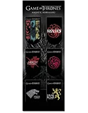 MC SID RAZZ Officially Licensed by HBO USA Redwolf Game of Thrones Magnetic Bookmarks - Pack of 6