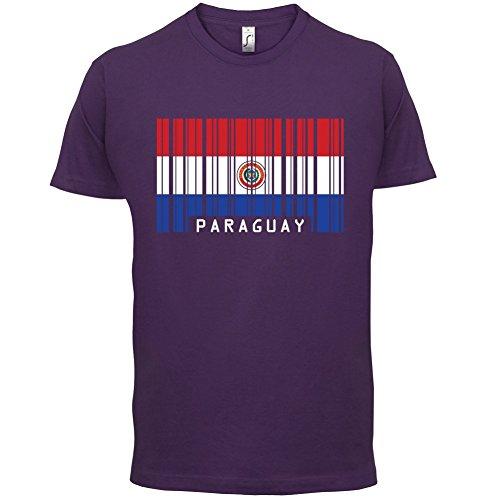 Paraguay / Republik Paraguay Barcode Flagge - Herren T-Shirt - 13 Farben Lila