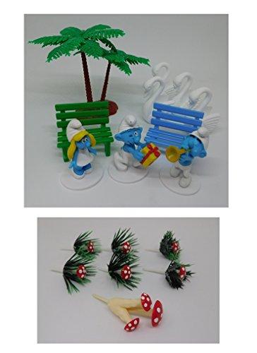 Kit PVC Les Schtroumpfs - Déco Decoration gâteau Anniversaire - 250