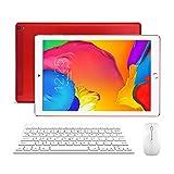 Tablette 10 Pouces Tactile 4G WiFi Dual SIM 32Go, 3Go de RAM Android 7.0 Quad Core Écran HD 1280x800 Double Caméra, Bluetooth/GPS/OTG - Rouge
