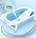 Tiners Neonatal Ridge Bath Holder, Baby-Bade-Artefakt Mit Digitalem Thermometer, Anti-Rutsch-Kissen, Sitzen Und Liegen