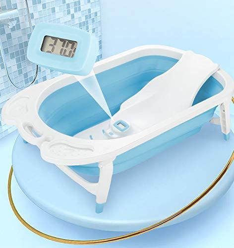 Tiners Neonatal Ridge Bath Holder, Baby-Bade-Artefakt Mit Digitalem Thermometer, Anti-Rutsch-Kissen, Sitzen Und Liegen -