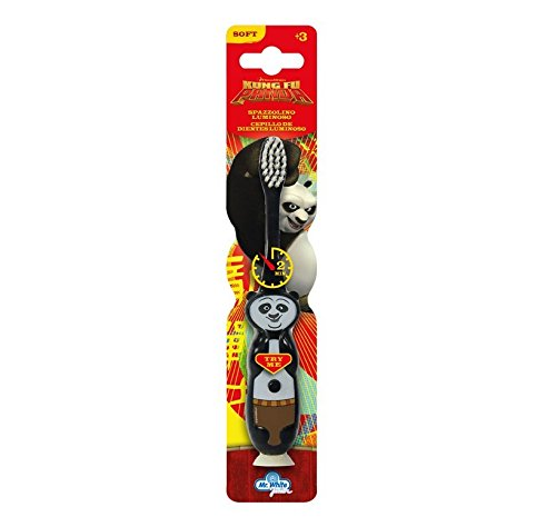 Mr White Jr Brosse à Dent Lumineuse Motif Kung Fu Panda - Lot de 2