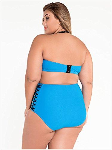 VLUNT Damen Bikinioberteil Blau