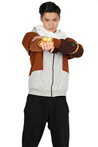 Cosplay Hoodie Hit Game Sweatshirt Original Pullover Design LOL Zip Up Kapuzenjacke Unisex Kleidung Kostüm Zubehör (Kostüm Ezreal Cosplay)