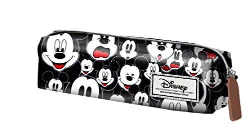 Mickey Mouse Estuche portatodo Cuadrado, Color Negro, 22 cm (Karactermanía 33606)
