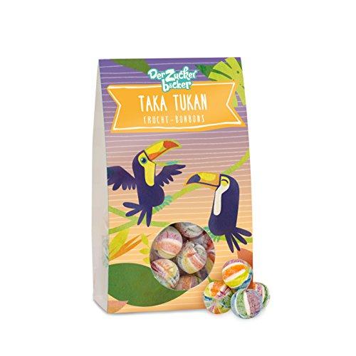 Taka Tukan, runde Frucht-Bonbons in Regenbogenfarbe, 70 Gramm Naschportion, süße Geschenkidee für Kein und Groß