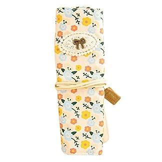 Envolver estuche Vintage Floral lápiz bolsa Papelería Bolsa Neceser para Mujeres Niñas