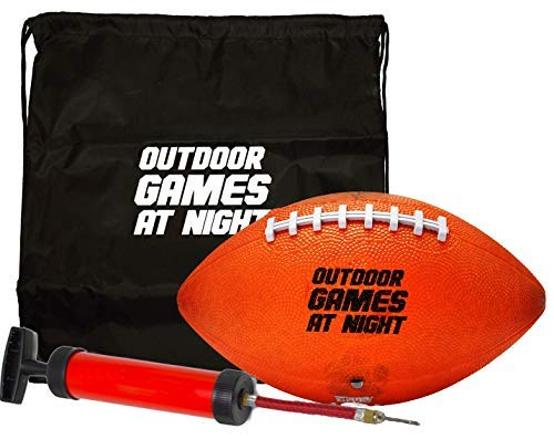 otball with Pump and Bag - Light Up The Night with The Glow in The Dark Football (Button Activated) ()