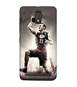 Takkloo Sportsman footballer,player playing football, Sport for everyone, A famous sportsman, amazing picture of a footballer) Printed Designer Back Case Cover for Lenovo A6600